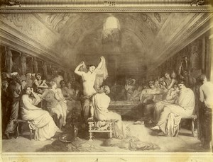 France Painting Louvre Baths Tepidarium by Chasseriau Old Photo 1900