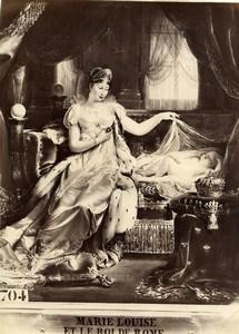 France Painting Marie Louise & King of Rome Joseph-Boniface Franque Photo 1900