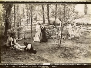 France Painting Fair 1897 Printemps Spring by Franc Lamy Old Photo 1900