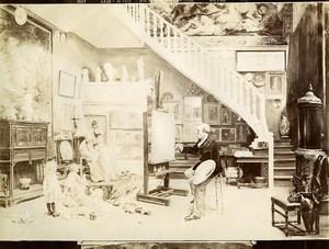 France Painting Fair 1898 Mes Modeles by Timoléon Lobrichon Old Photo 1900