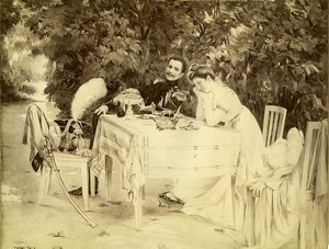 France Painting Fair 1900 Indecision by Thomas Sala Old Photo 1900