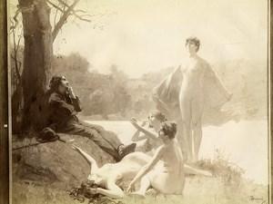 France Painting le Rêveur de Gustave Surand Old Photo 1900