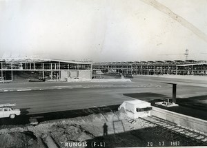 France Rungis International Market Construction Old Photo Lepicier 1967 SK5