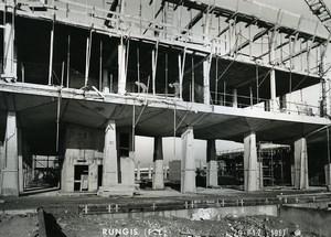 France Rungis International Market Construction Old Photo Lepicier 1967 SK2