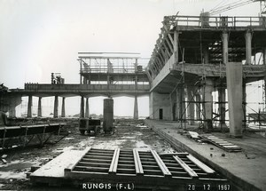 France Rungis International Market Construction Old Photo Lepicier 1967 SK4