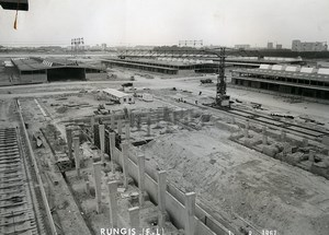 France Rungis International Market Construction Old Photo Lepicier 1967 QE1