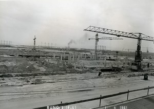 France Rungis International Market Construction Old Photo Lepicier 1967 QE6