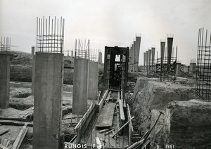 France Rungis International Market Construction Old Photo Lepicier 1967 QE5