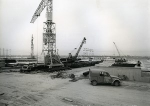 France Rungis International Market Construction 2CV Old Photo Lepicier 1967 PJ3