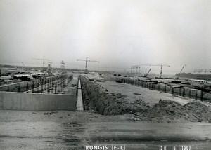 France Rungis International Market Construction CFEM Old Photo Lepicier 1967 PJ8