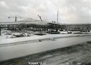 France Rungis International Market Construction Old Photo Lepicier 1967 OS7