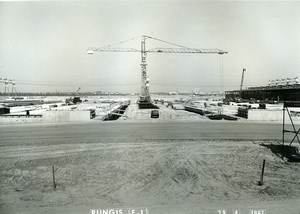 France Rungis International Market Construction Old Photo Lepicier 1967 OD10