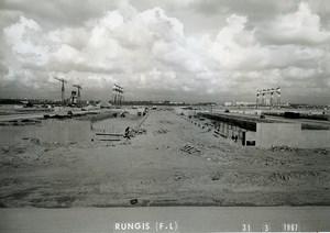 France Rungis International Market Construction Old Photo Lepicier 1967 NR2