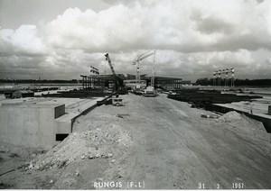 France Rungis International Market Construction Old Photo Lepicier 1967 NR7