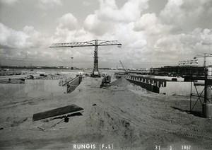 France Rungis International Market Construction Old Photo Lepicier 1967 NR4
