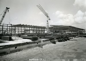 France Rungis International Market Construction Old Photo Lepicier 1967 NR6