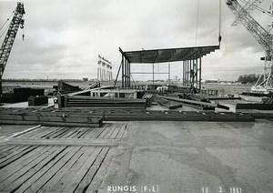 France Rungis International Market Construction Old Photo Lepicier 1967 NF2