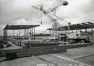 France Rungis International Market Construction Old Photo Lepicier 1967 NF3