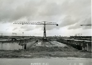 France Rungis International Market Construction Old Photo Lepicier 1967 MX1