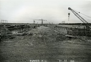 France Rungis International Market Construction Old Photo Lepicier 1966 MH6