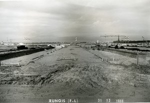 France Rungis International Market Construction Old Photo Lepicier 1966 MH7