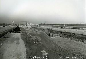 France Rungis International Market Construction Old Photo Lepicier 1966 LH4