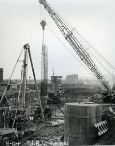 France Issy les Moulineaux EDF TIRU Construction Old Photo Lepicier 1963 B1