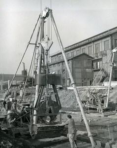 France Issy les Moulineaux EDF TIRU Construction Old Photo Lepicier 1963 6A