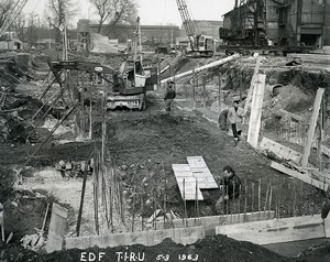 Issy les Moulineaux EDF TIRU Construction Poclain Old Photo Lepicier 1963 B3