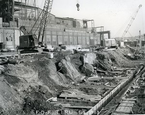 France Issy les Moulineaux EDF TIRU Construction Old Photo Lepicier 1963 A11