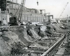 France Issy les Moulineaux EDF TIRU Construction Old Photo Lepicier 1963 A11