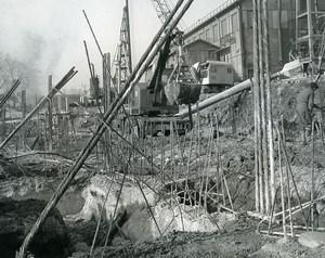 France Issy les Moulineaux EDF TIRU Construction Old Photo Lepicier 1963 4A