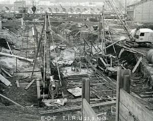 France Issy les Moulineaux EDF TIRU Construction Old Photo Lepicier 1963 C7