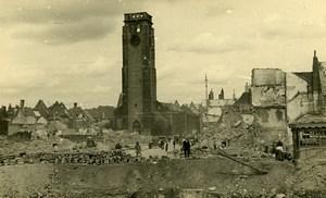 Belgium Tournai Destruction WWII Liberation St Brice Church Old Photo 1945