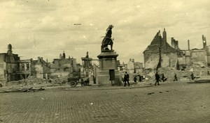 Belgium Tournai Destruction WWII Liberation Grand-Place Ruins Old Photo 1945