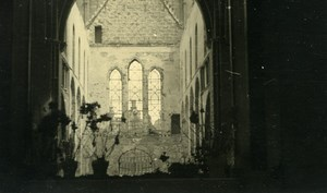 Belgium Tournai Destruction WWII Liberation Church Ruins Old Photo 1945