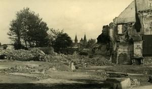 Belgique Tournai Destruction WWII Liberation Ruines ancienne Photo Hiver 1945