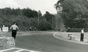Belgium? Unidentified Racetrack Racing Accident Old Photo 1960's