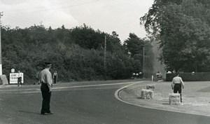 Belgium? Unidentified Racetrack Racing Accident Old Photo 1960's