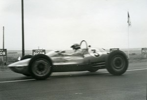 Belgium? Unidentified Racetrack Car Racing Old Photo 1960's