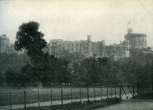 United Kingdom Windsor Castle Old Photo Print 1900
