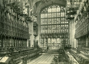 United Kingdom Windsor Castle St Georges Chapel Old Photo Print Frith 1900