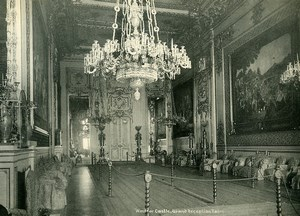 United Kingdom Windsor Castle Grand Reception Room Old Photo Print 1900