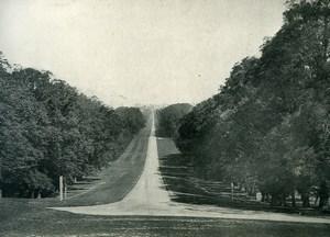 United Kingdom Windsor Castle Long Walk Old Photo Print Frith 1900