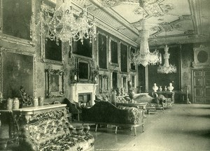 United Kingdom Windsor Castle Vandyke Room Old Photo Print 1900