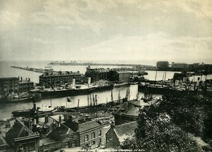 United Kingdom Dover from Belle Vue Tea gardens Old Photo Print Frith 1900