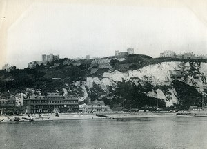 Royaume Uni Douvres panorama Chateau et Falaises Dover ancienne Phototypie Frith 1900