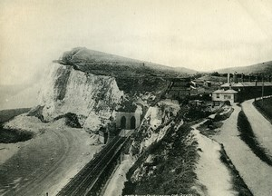 United Kingdom Dover Shakespeare Cliff Douvres Old Photo Print Frith 1900