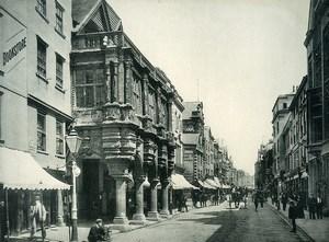 United Kingdom Exeter High Street Shops Old Photo Print 1900