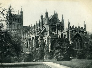 United Kingdom Exeter Church Old Photo Print 1900